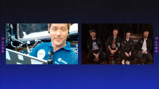Coldplay con Thomas Pesquet