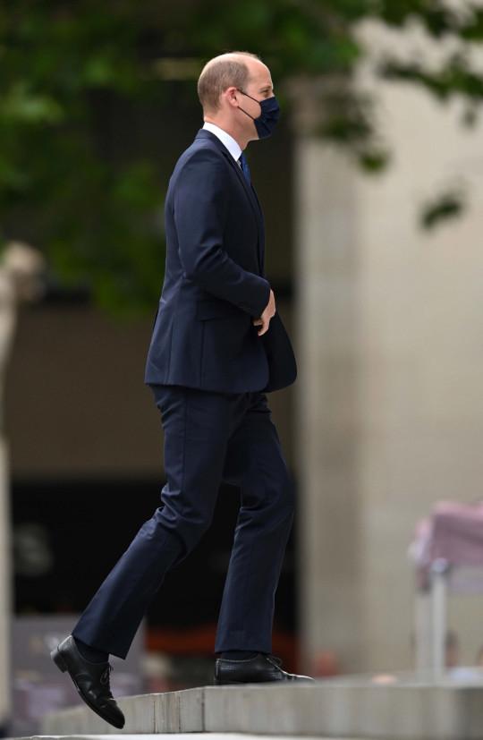 El príncipe William, duque de Cambridge, asiste a un servicio de acción de gracias para celebrar el 73 aniversario del NHS en St Paul?